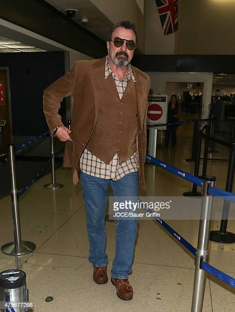 Tom Selleck is seen arriving at LAX on June 02 2015 in Los Angeles California