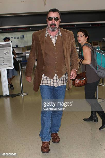 Tom Selleck is seen at LAX on June 02 2015 in Los Angeles California