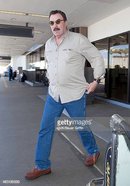 Tom Selleck is seen at Los Angeles International Airport on August 05 2012 in Los Angeles California
