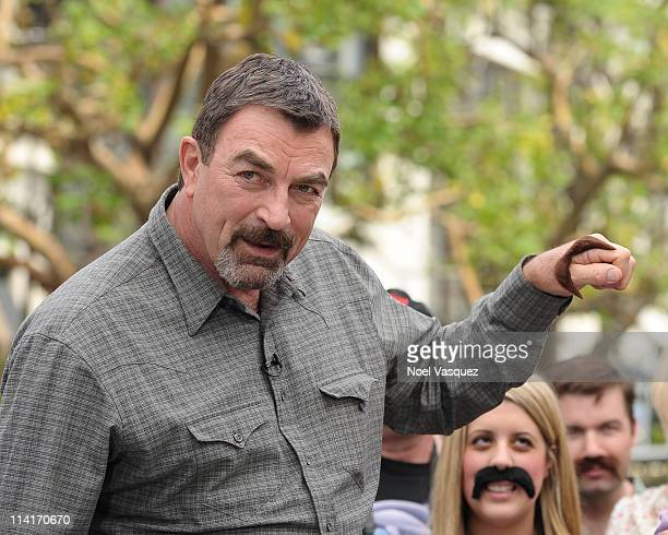 Tom Selleck visits Extra at The Grove on May 13 2011 in Los Angeles California