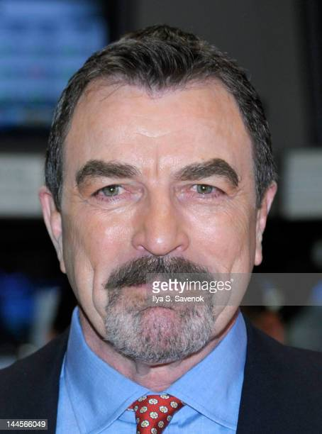 Tom Selleck visits the New York Stock Exchange on May 16 2012 in New York City