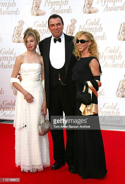 Tom Selleck with Wife and daughter during 44th Monte Carlo Television Festival Closing Ceremony Arrivals at Grimaldi Forum in MonteCarlo Monaco
