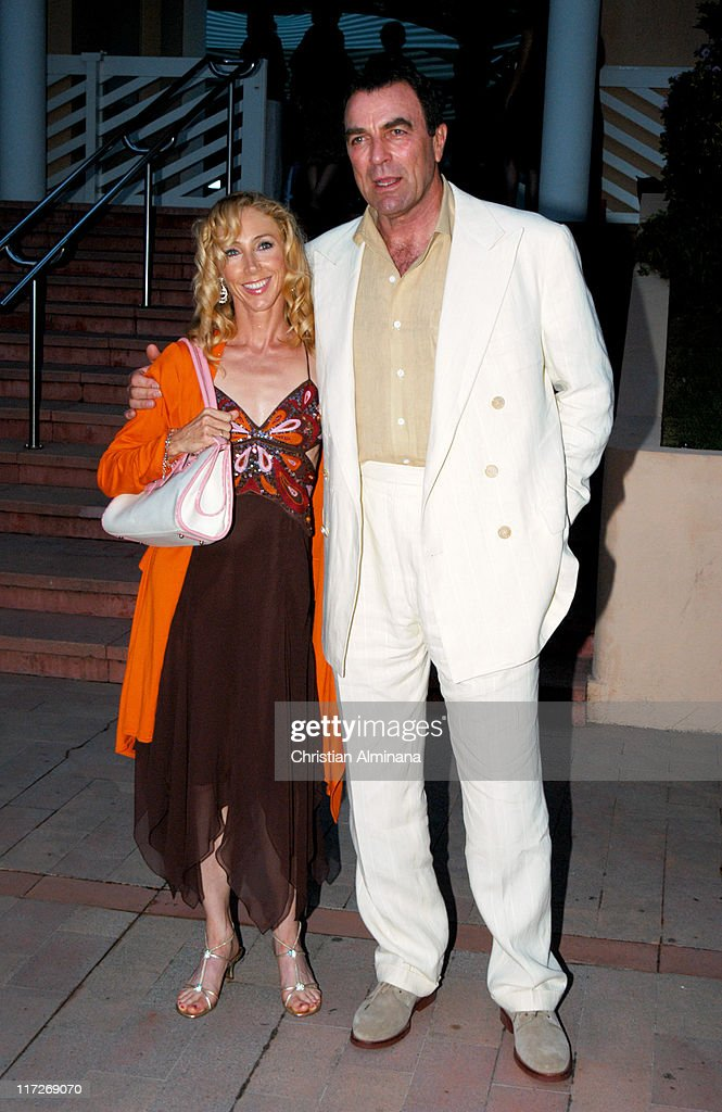 Tom Selleck with wife Jillie Mack during 44th Monte Carlo Television Festival - Beach Club Party - Arrivals at Monte Carlo Beach Hotel in Monte Carlo, Monaco.