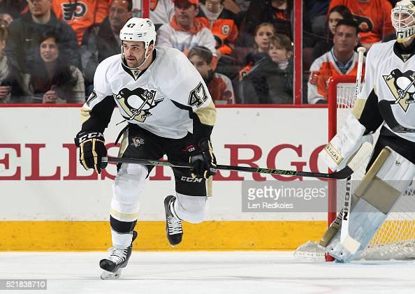 Tom Sestito of the Pittsburgh Penguins skates against the Philadelphia Flyers on April 9 2016 at the Wells Fargo Center in Philadelphia Pennsylvania
