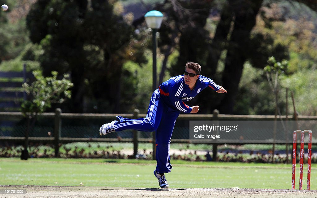 Tom Shrewsbury of England during the 2nd U/19 Youth One Day International match between South Africa and England at Bellville Cricket Club on February 15, 2013 in Cape Town, South Africa.