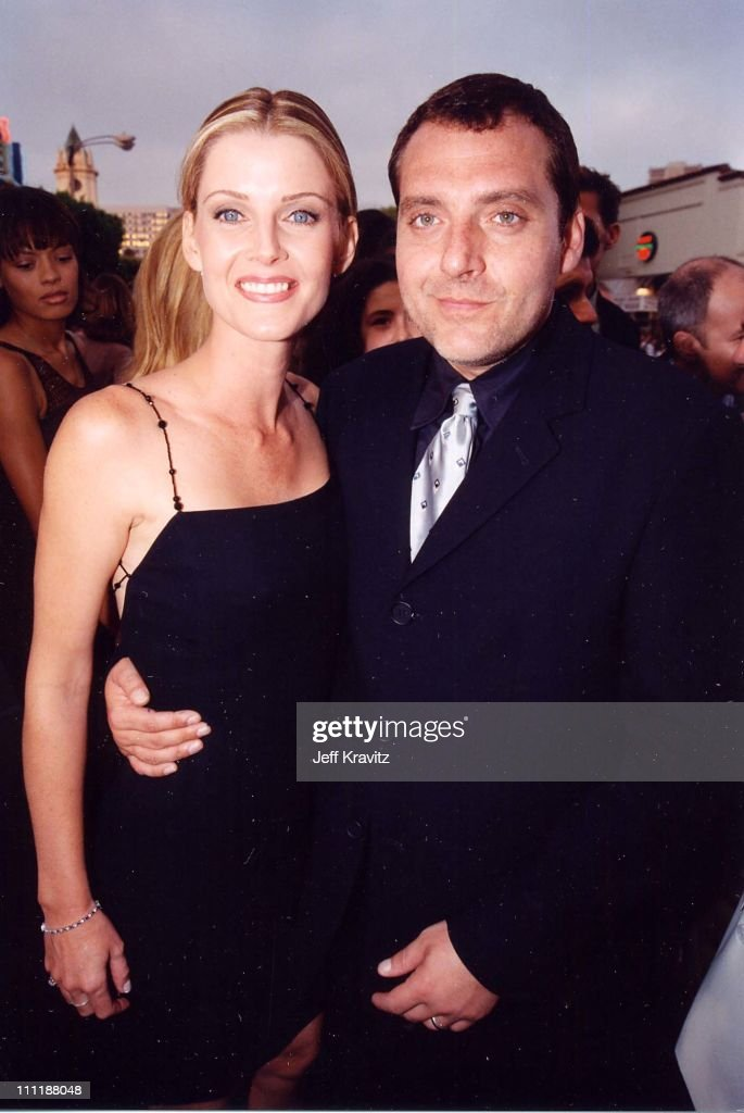 Tom Sizemore & Maeve Quinlan at the 1998 premiere of Saving Private Ryan in Westwood.
