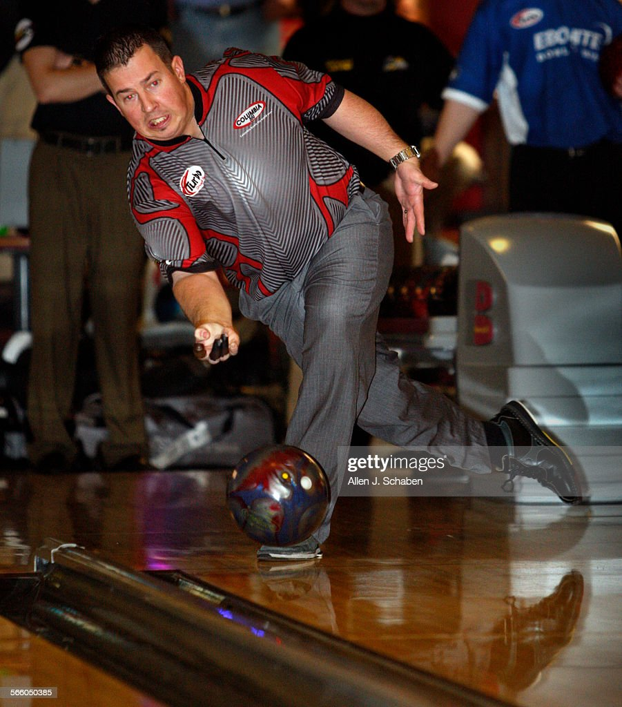 tom smallwood of saginaw michigan practices bowling in