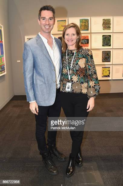 Tom Smith and Evelyn Larry attend the IFPDA Fine Art Print Fair Opening Preview at The Jacob K Javits Convention Center on October 25 2017 in New...