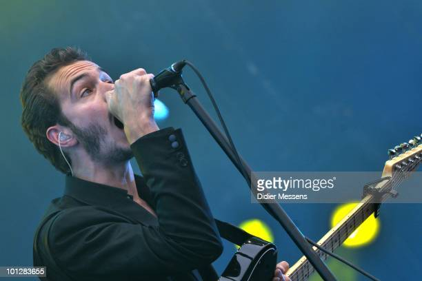 Tom Smith from The Editors perform during day two of Pink Pop Festival on May 29 2010 in Landgraaf Netherlands