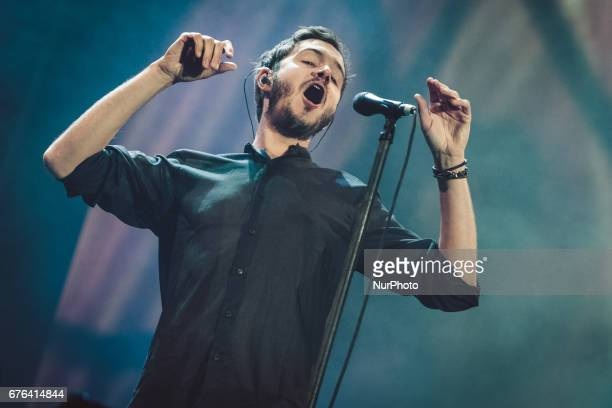 Tom Smith leader of english Rock Band Editors performs live during Labor Day concert organized by the main unions in Rome Monday May 1 2017