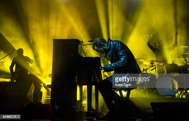 Tom Smith of Editors performing on stage at Beyond The Tracks Festival on September 17 2017 in Birmingham England