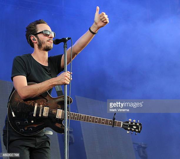 Tom Smith of Editors performs at Day 2 of Pinkpop at Megaland on June 8 2014 in Landgraaf Netherlands