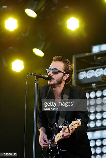 Tom Smith of Editors performs at day 3 of the Isle Of Wight Festival at Seaclose Park on June 13 2010 in Newport Isle of Wight