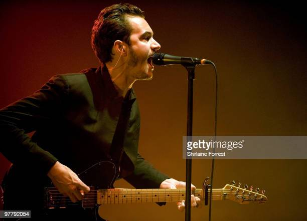 Tom Smith of Editors performs at Manchester Apollo on March 16 2010 in Manchester England