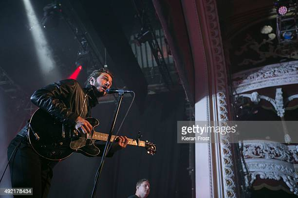 Tom Smith of Editors performs at The Olympia on October 10 2015 in Dublin Ireland
