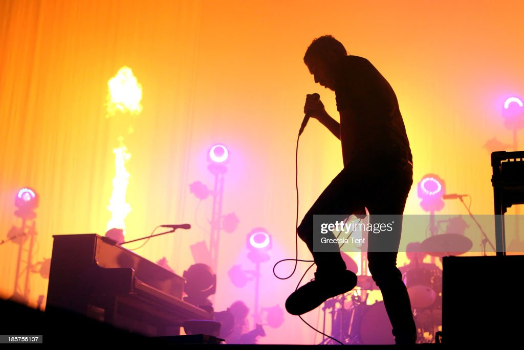 Tom Smith of Editors performs at the Ziggo Dome on October 24, 2013 in Amsterdam, Netherlands.