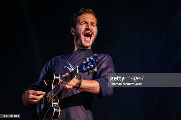 Tom Smith of Editors performs during the third day of the Southside festival on June 25 2017 in Neuhausen Germany