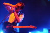Tom Smith of Editors performs live at The Carling Academy Brixton on May 30 2006 in London England