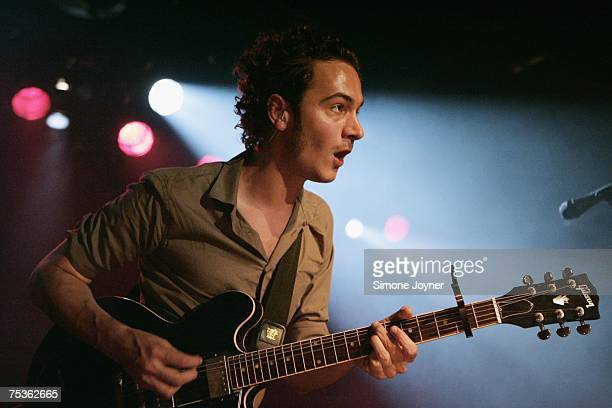 Tom Smith of Editors performs live on stage as part of 'The iTunes Music Festival' at the Institute of Contemporary Arts on July 11 2007 in London...