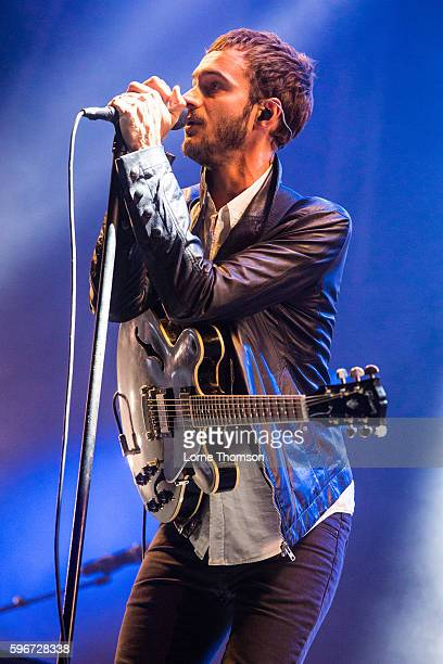 Tom Smith of Editors performs on day one of Victorious Festival at Southsea Seafront on August 27 2016 in Portsmouth England