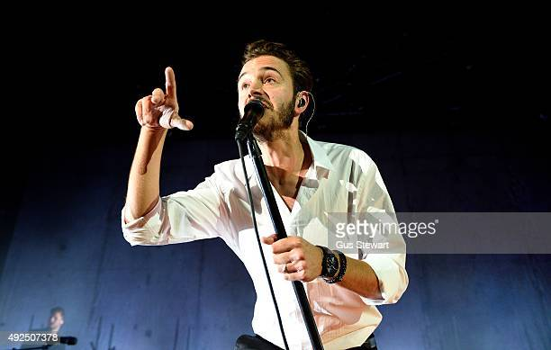 Tom Smith of Editors performs on stage at Eventim Apollo on October 13 2015 in London England