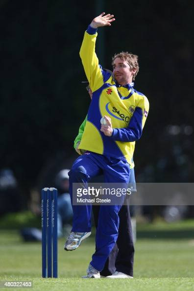 Tom Smith of Gloucestershire during the pre season 50 overs friendly match between Worcestershire and Gloucestershire on March 24 2014 in...