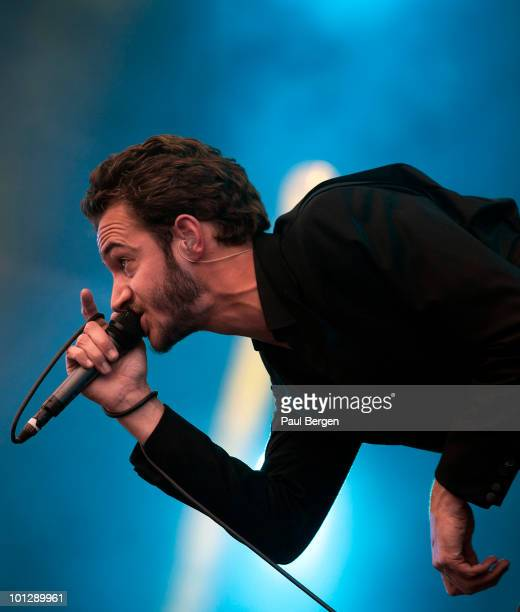 Tom Smith of rock band Editors performs during day 2 of Pinkpop Festival on May 29 2010 in Landgraaf Netherlands