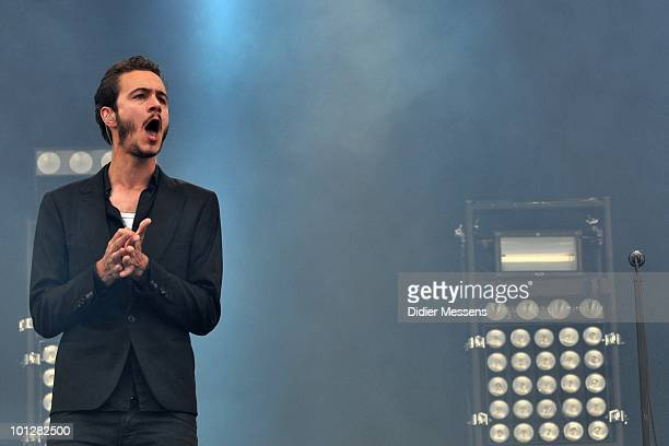 Tom Smith of The Editors performs during day two of Pink Pop Festival on May 29 2010 in Landgraaf Netherlands