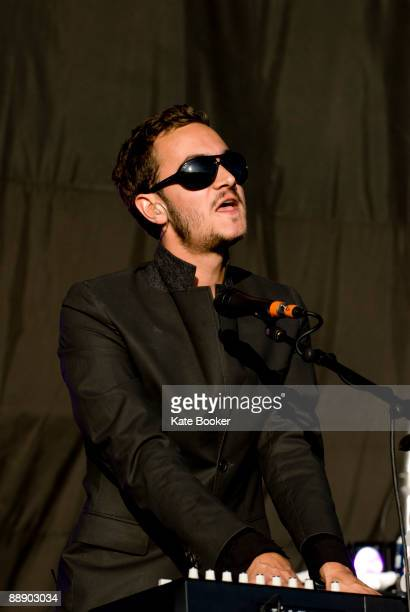 Tom Smith of The Editors performs on stage on the last day of The Hop Parm Festival at The Hop Farm on July 5 2009 in Paddock Wood England
