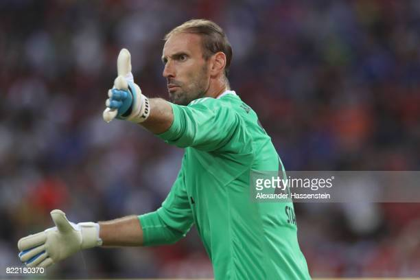 Tom Starke keeeper of Bayern Muenchen reacts during the International Champions Cup 2017 match between Bayern Muenchen and Chelsea FC at National...