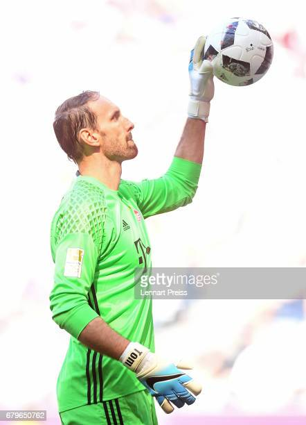 Tom Starke of FC Bayern Muenchen in action during the Bundesliga match between Bayern Muenchen and SV Darmstadt 98 at Allianz Arena on May 6 2017 in...