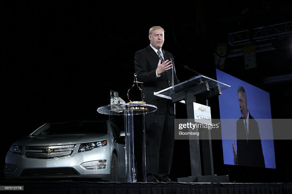 Tom Stephens, vice chairman of global product operations at General Motors Co., speaks at an event at GM's Detroit-Hamtramck Assembly plant in Detroit, Michigan, U.S., on Tuesday, Nov. 30, 2010. General Motors Co., the maker of the Chevrolet Volt gasoline-electric car, will hire 1,000 engineers in Michigan to help expand the automakers' lineup of electric-drive vehicles. Photographer: Jeff Kowalsky/Bloomberg via Getty Images