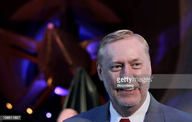 Tom Stephens vice chairman of global product operations for General Motors Co smiles during the ceremony honoring the General Motors Chevrolet Volt...