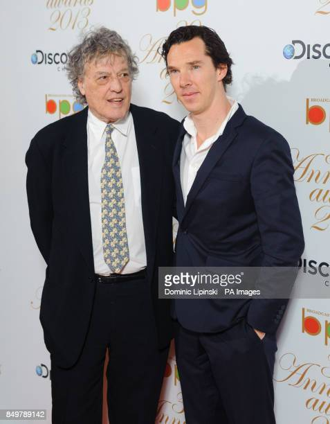 Tom Stoppard and Benedict Cumberbatch arriving at the Broadcasting Press Guild Television Radio Awards at One Whitehall Place in Westminster central...