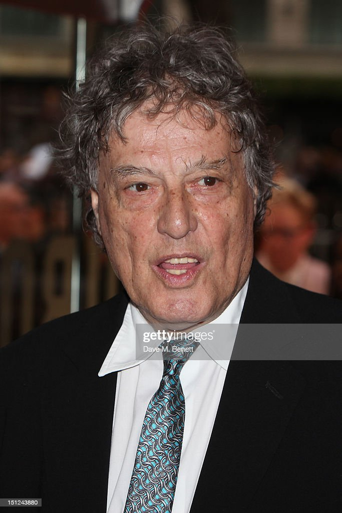 Tom Stoppard arrives at the World premiere of 'Anna Karenina' at The Odeon Leicester Square in London, England.