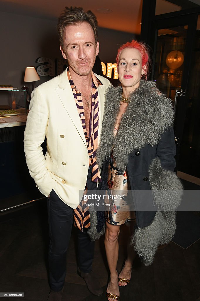 Tom Stubbs and Katie Eary attend the London Collections Men AW16 closing dinner hosted by GQ editor Dylan Jones and LCM Ambassadors at Sartoria on...