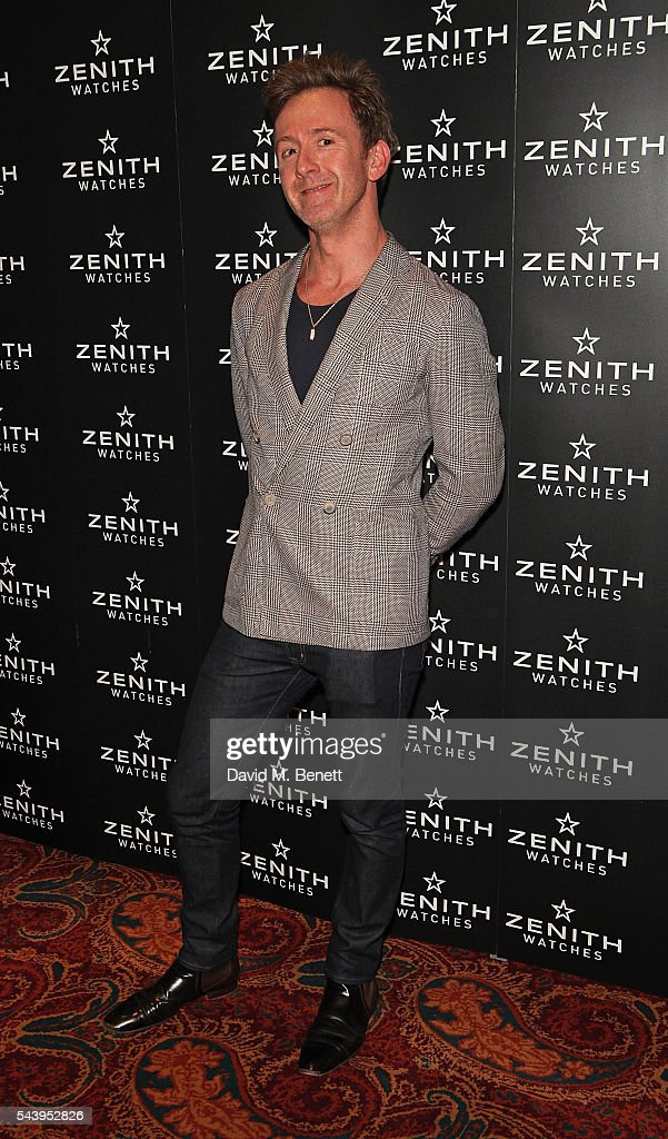 Tom Stubbs attends an evening of cigars at Mark's club in London to celebrate the launch of Zenith's new Limited Edition timepiece hosted by Aldo Magada, CEO and President of Zenith Watches, and Nick Foulkes, Author on June 30, 2016 in London, England.