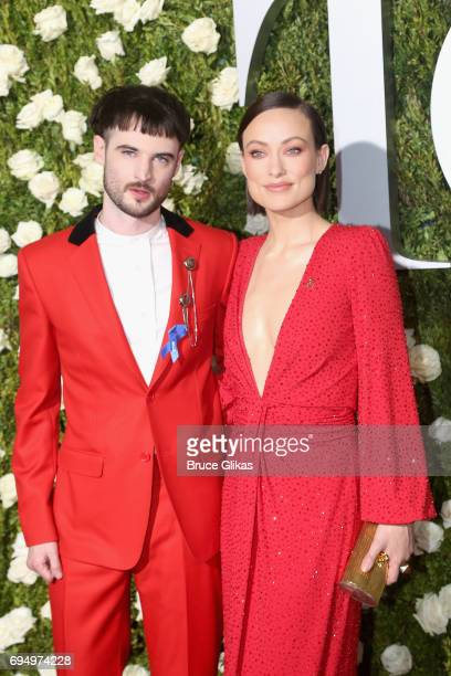 Tom Sturridge and Olivia Wilde attend the 2017 Tony Awards at Radio City Music Hall on June 11 2017 in New York City