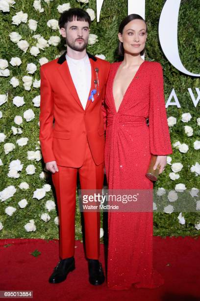 Tom Sturridge and Olivia Wilde attend the 71st Annual Tony Awards at Radio City Music Hall on June 11 2017 in New York City