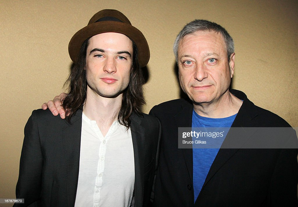<a gi-track='captionPersonalityLinkClicked' href=/galleries/search?phrase=Tom+Sturridge&family=editorial&specificpeople=2666406 ng-click='$event.stopPropagation()'>Tom Sturridge</a> and producer Frederick Zollo attend the 2013 Tony Awards: The Meet The Nominees Press Junket at the Millenium Hilton on May 1, 2013 in New York City.