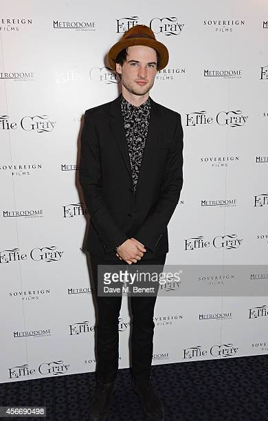 Tom Sturridge attends the World Premiere of 'Effie Gray' at The Curzon Mayfair on October 5 2014 in London England