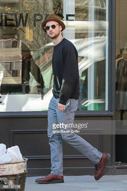 Tom Sturridge is seen in New York City on March 09 2015 in New York City