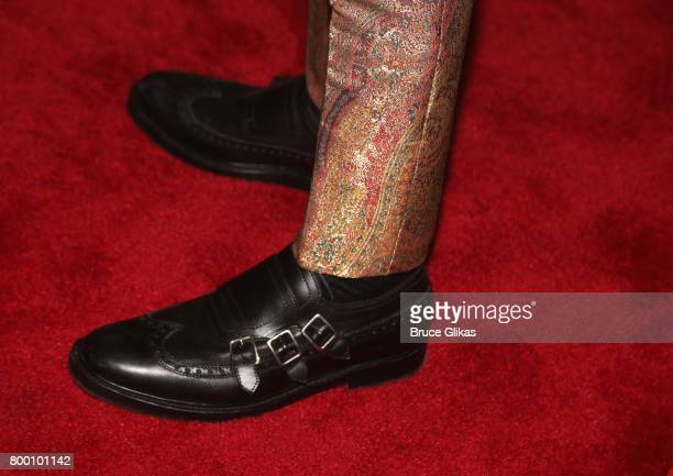 Tom Sturridge shoe detail at the opening night party for '1984' on Broadway at The Lighthouse at Chelsea Piers on June 22 2017 in New York City