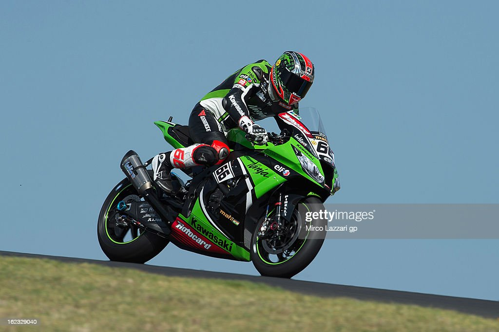 Tom Sykes of Great Britain and Kawasaki Racing Team heads down a straight during qualifying practice ahead of the World Superbikes at Phillip Island Grand Prix Circuit on February 22, 2013 in Phillip Island, Australia.