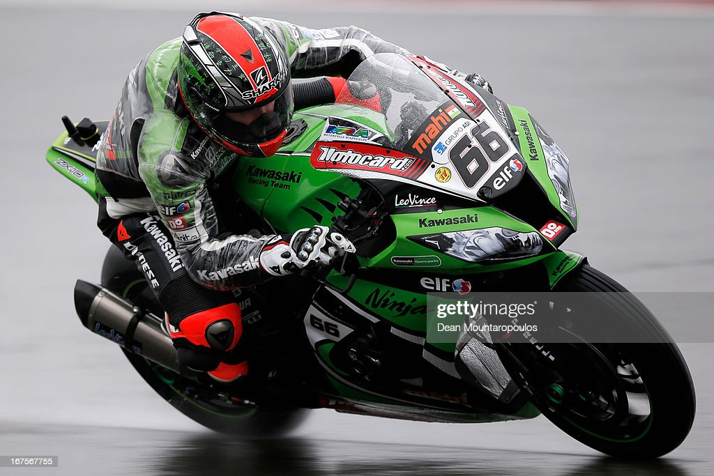 Tom Sykes of Great Britain on the Kawasaki ZX-10R for Kawasaki Racing Team competes during the World Superbikes Practice Session at TT Circuit Assen on April 26, 2013 in Assen, Netherlands.