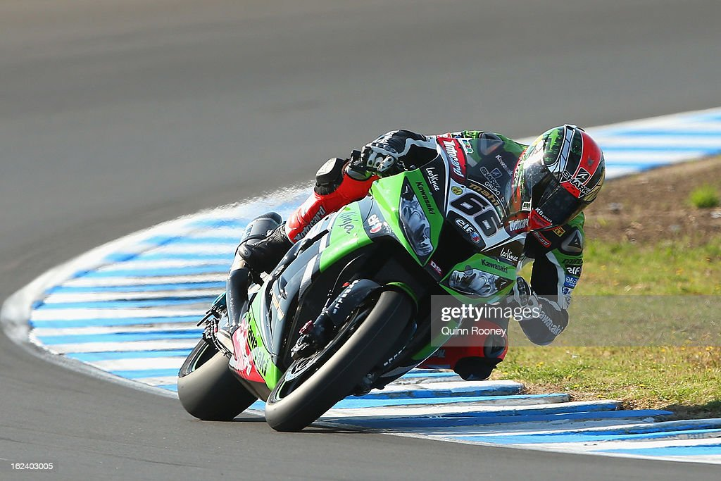 Tom Sykes of Great Britain riding the #66 Kawasaki Racing Team during qualifying for the World Superbikes at Phillip Island Grand Prix Circuit on February 23, 2013 in Phillip Island, Australia.