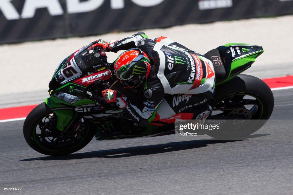 "Tom Sykes of Kawasaki Racing Team during the race 2 of the Motul FIM Superbike Championship, Riviera di Rimini Round, at Misano World Circuit ""Marco Simoncelli"", on June 18, 2017 in Misano Adriatico, Italy"