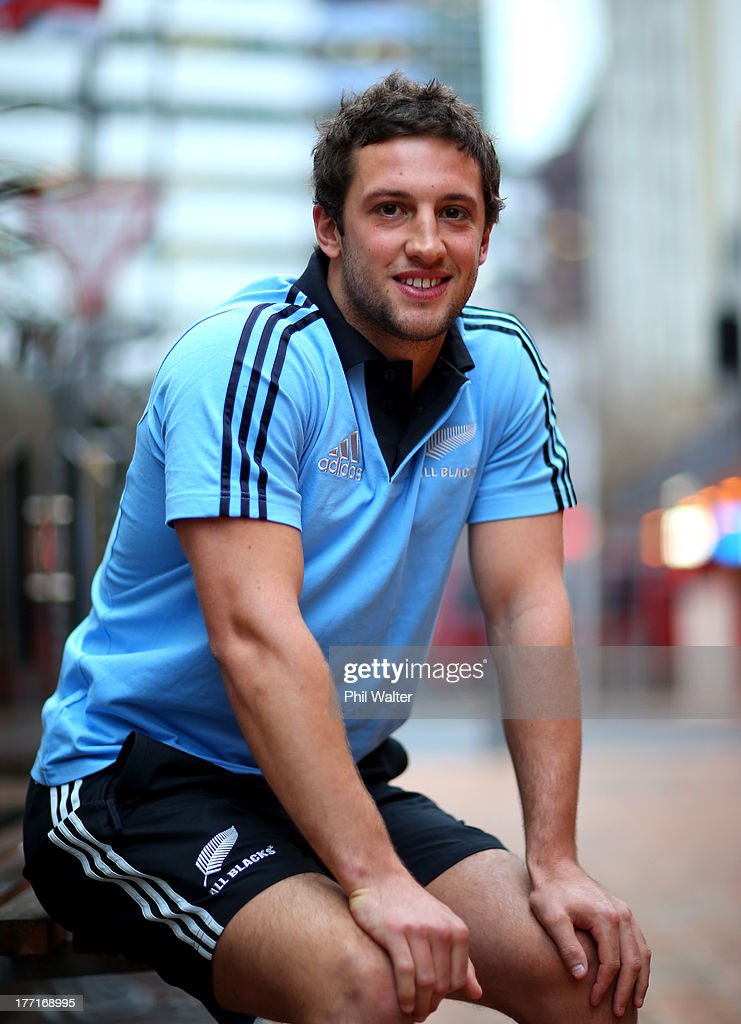Tom Taylor of the All Blacks poses for a portrait during a New Zealand All Blacks Media Session at the InterContinental Hotel on August 22, 2013 in Wellington, New Zealand.