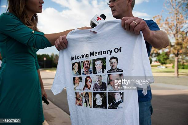 Tom Teves the father of Aurora shooting victim Alex Teves is iterviewed after a verdict was delivered in the trial of James Holmes at the Arapahoe...