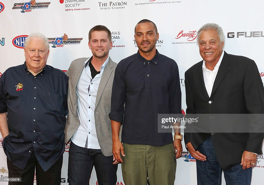 Tom 'The Mongoo$e' McEwen, Richard Blake, <a gi-track='captionPersonalityLinkClicked' href=/galleries/search?phrase=Jesse+Williams+-+Actor&family=editorial&specificpeople=7189838 ng-click='$event.stopPropagation()'>Jesse Williams</a> and Don 'The Snake' Prudhomme attend the premiere of 'Snake & Mongoo$e' at the Egyptian Theatre on August 26, 2013 in Hollywood, California.